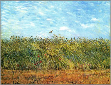 Wheat field with lark (Van Gogh)