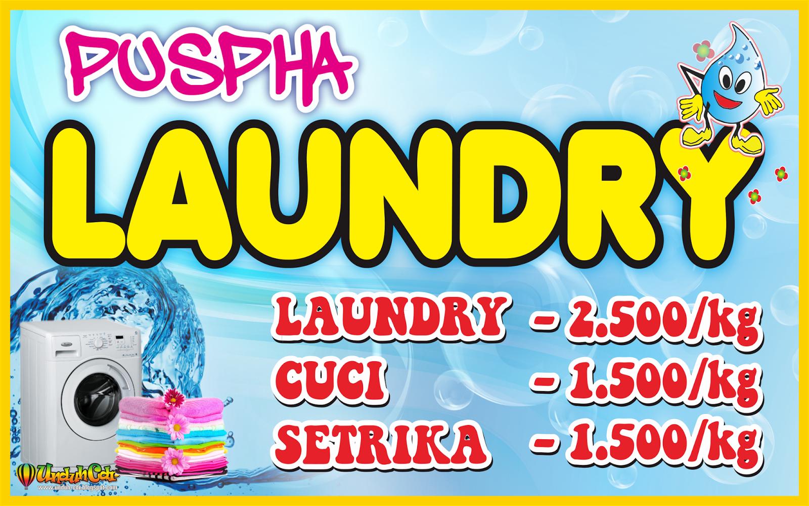 Desain Spanduk/Banner Laundry File Cdr   Omah Corel