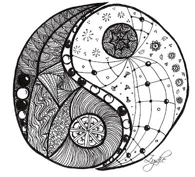 Zydie *Yin und Yang* • Kritzeln und Meditatives Zeichnen