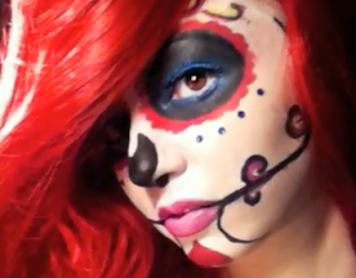 mexican sugar skull makeup style for girls