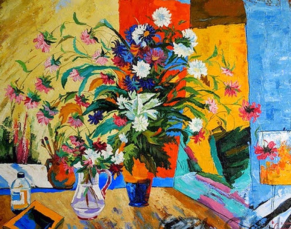 Pintura moderna y fotograf a art stica pinturas modernas for Cuadros al oleo modernos para comedor
