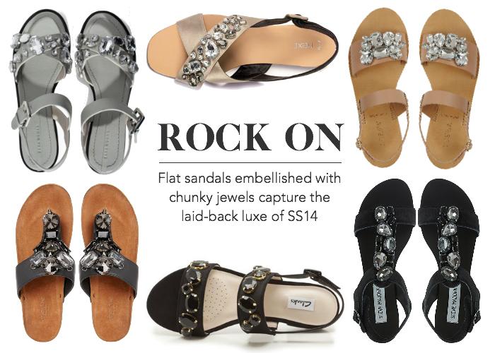 Jewelled Flat Sandals SS14