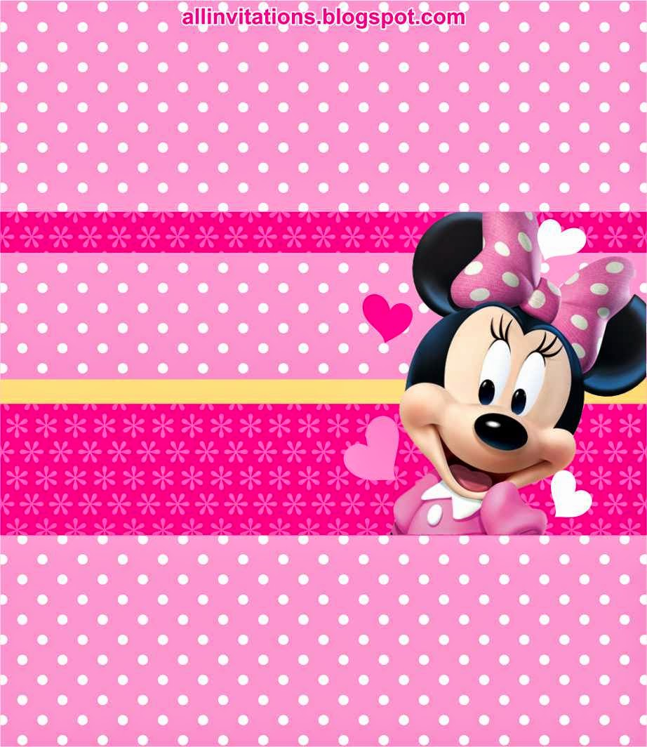 Kit Imprimible Minnie Mouse | All Invitations