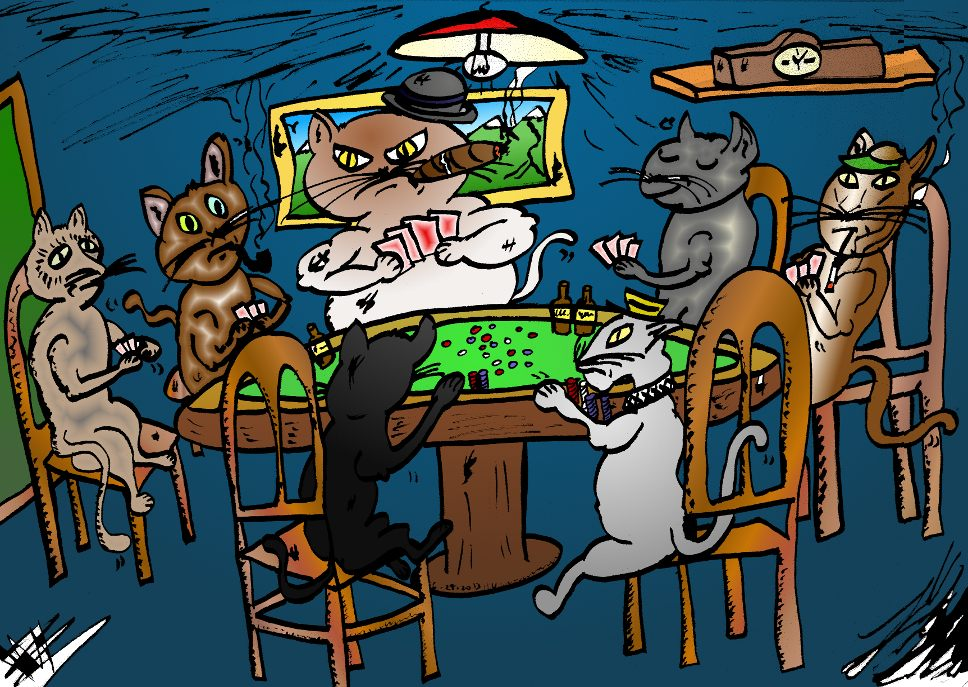Dogs And Cats Playing Together Cats Not Dogs Playing Poker