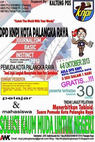 Pelatihan Jurnalistik Pemuda Kota Palangka Raya