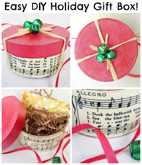 The Shed by Pet Scribbles: Holiday Gift Box DIY: an easy decoupage craft!