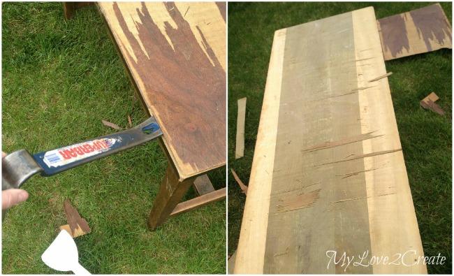 How to remove bad veneer