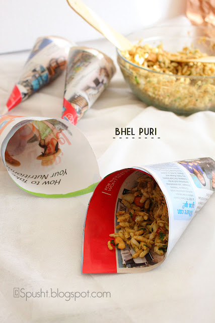 Spusht | Yummy Indian Chaat Bhel Puri Recipe