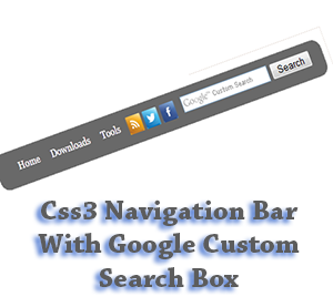 Css3+Navigation+Bar+With+Google+Custom+Search+Box