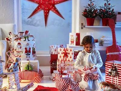 Decora la navidad en rojo y blanco