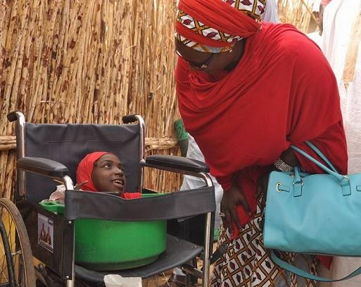 Nigerian Girl With Shrinking Body, Missing Arm & Leg, Rahma Haruna Gets Wheelchair