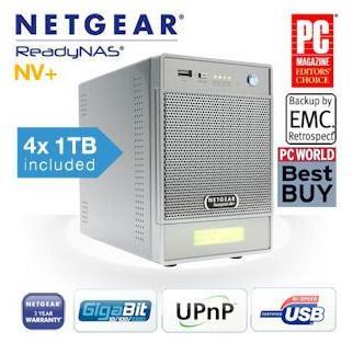 Netgear ReadyNAS NV+ v1 (RND4410-100) 4x1TB für 508,90 Euro bei iBood (Vergleichspreis 673,79)