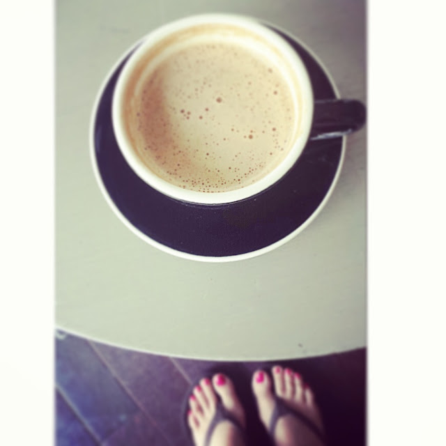 Stumptown Coffee Roasters, Cappucino, See Summer Better, Warby Parker, pedicure, pink nails, sandals