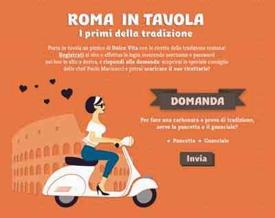 Roma In tavola i primi piatti della tradizione