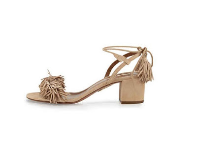 Aquazzura low heeled shoes with fringe