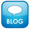 Blue blog icon