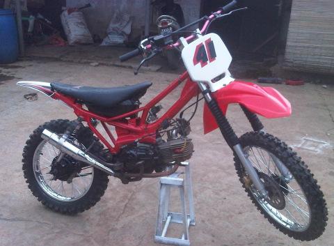 Gambar Modifikasi Motor Yamaha Trail Vixion Kaki Garang Keren
