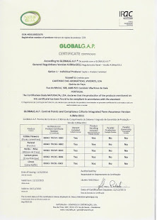 Certificado GlobalGap 2016