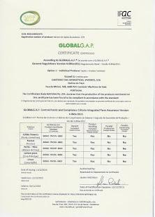 Certificado GlobalGap 2016