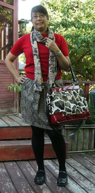 Pink Calico: Snake Skirt, Miche Bag