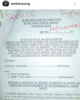 Kcee court papers