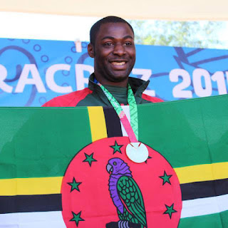 I AM UAA: David Registe—former Seawolf athlete—now competes for the Caribbean nation of Dominica. He recently won a gold medal in long jump at November's Central American and Caribbean Games in Veracruz. (Photo provided by David Registe)