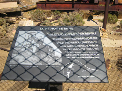 Lost Horse Mine Sign