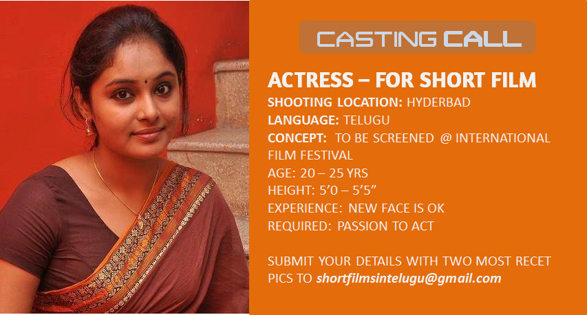 CASTING CALL ACTRESS TELUGU FILMS