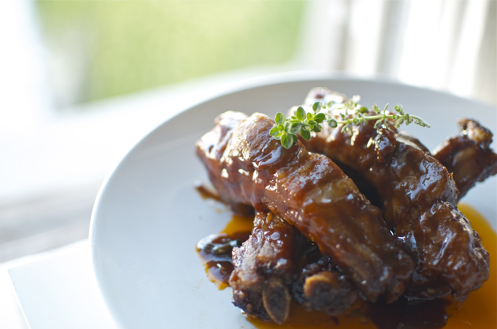 spiced honey pork spare ribs with bbq bourbon sauce i love summer bbq ...