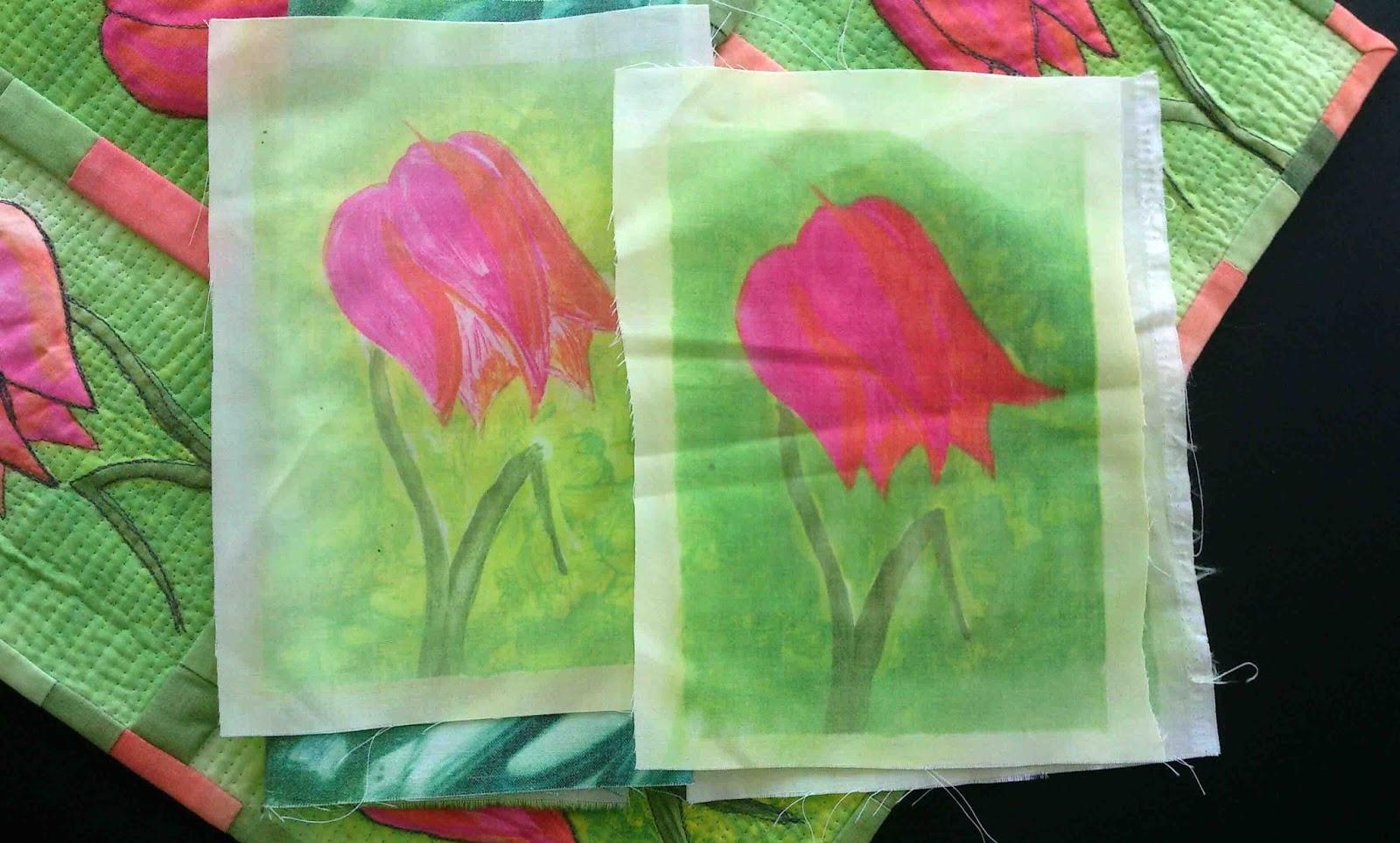 tulips art quilt