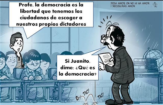 Niños maestro democracia