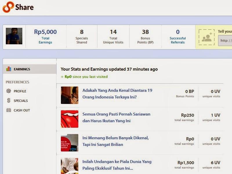 Cara Menghasilkan Uang dengan Sharing Hal-hal Menarik (paid to share) 8Share