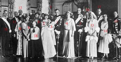 Baptême de la princesse Elisabeth de Danemark (juillet 1935)