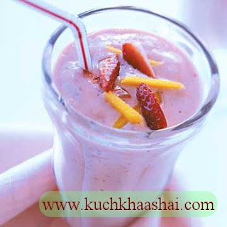 Strawberry-Mango Milk Shake