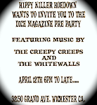 Dice Hoedown Pre-party w/ The Creepy Creeps and The Whitewalls April 12th
