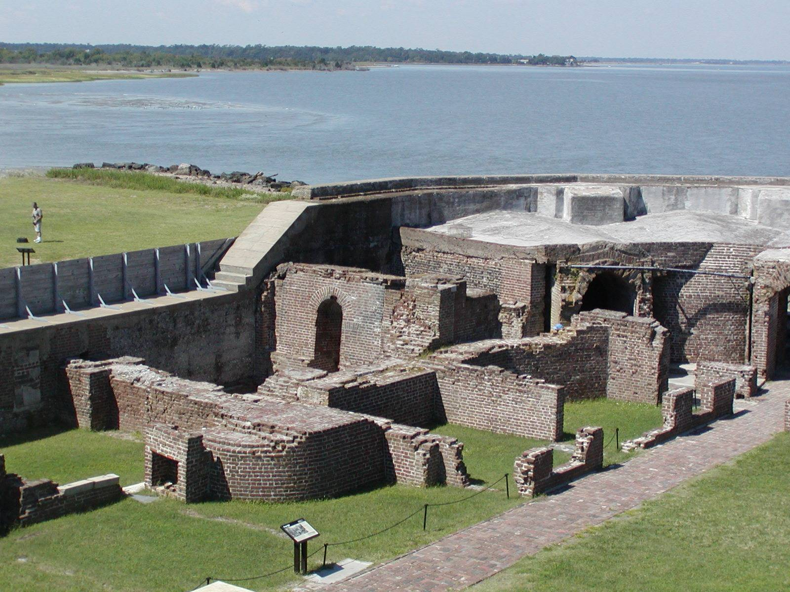 fort sumter In the early dawn of april 12, 1861, a mortar shell fired from fort johnson in  charleston harbor burst over fort sumter, inaugurating the american civil war.