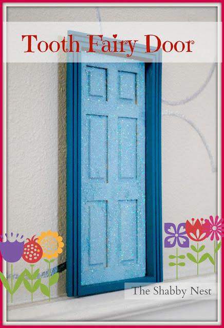 The shabby nest tooth fairy door for Tooth fairy door