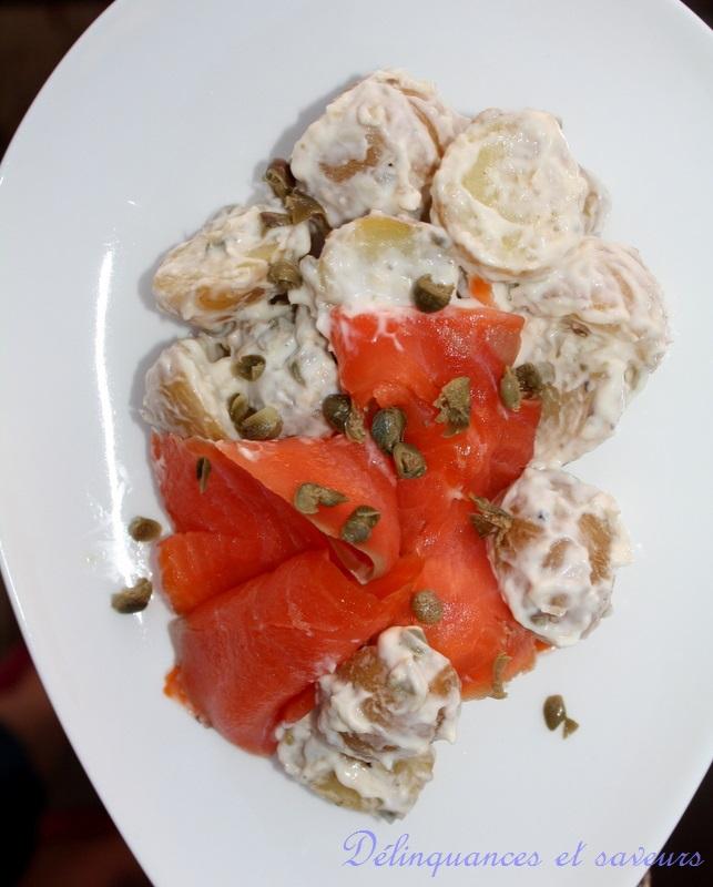 D linquances et saveurs salade de pommes de terre et - Salade pomme de terre saumon fume ...