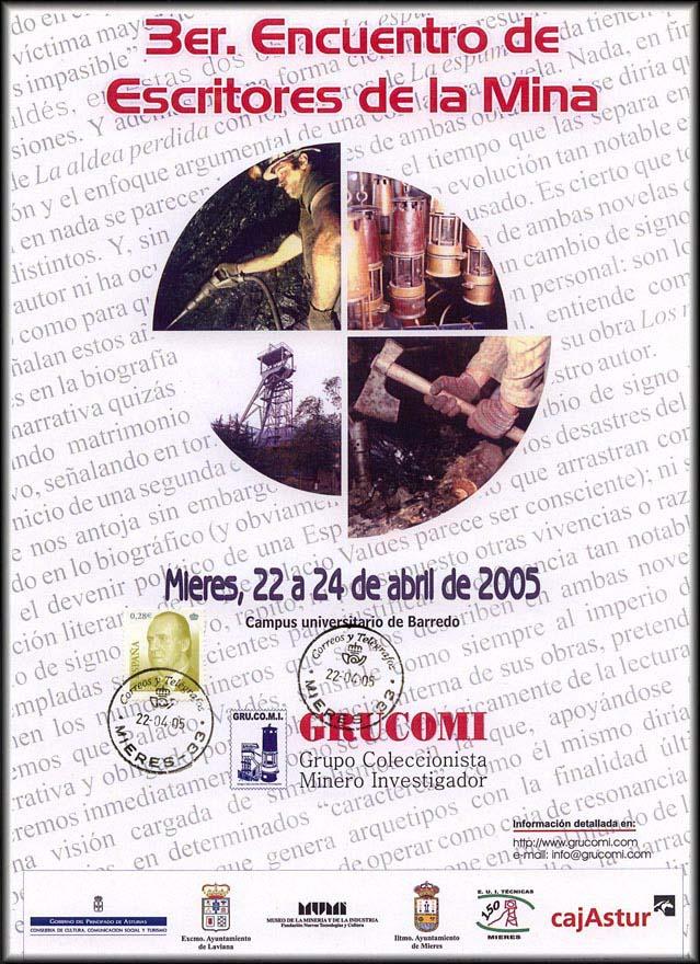 Cartel del Tercer Encuentro de Escritores de la Mina