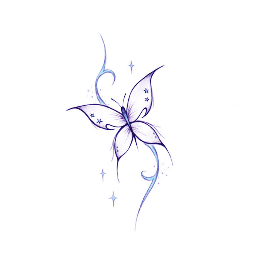 Simple butterfly drawings - photo#23
