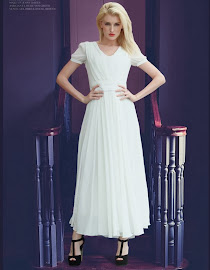 Short Sleeve Chiffon Maxi White