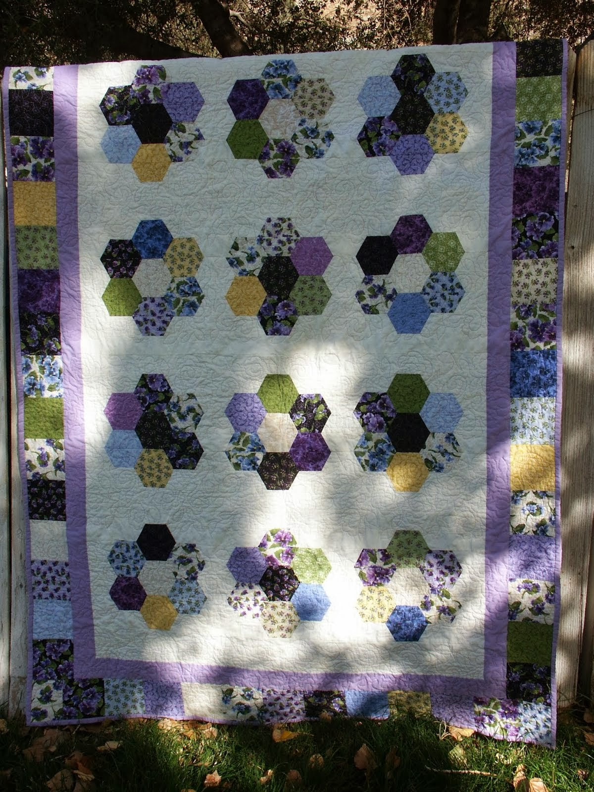 Hexi Flower Quilt