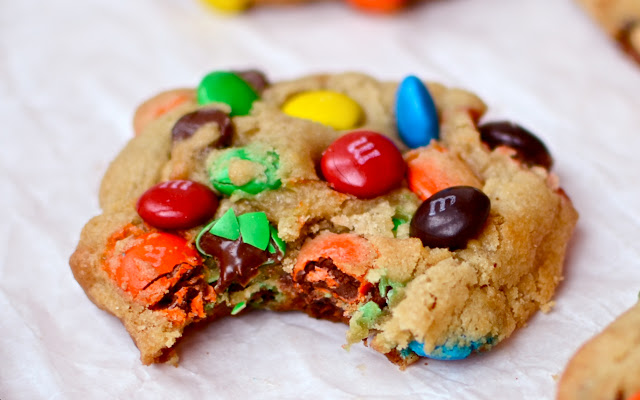 how to make m and m cookies