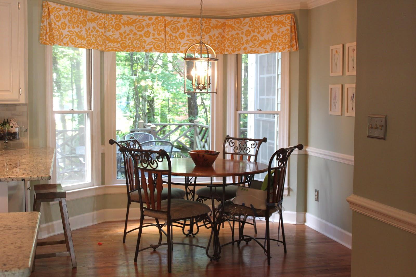 Kitchen Bay Window Treatment Ideas Bow Curtain