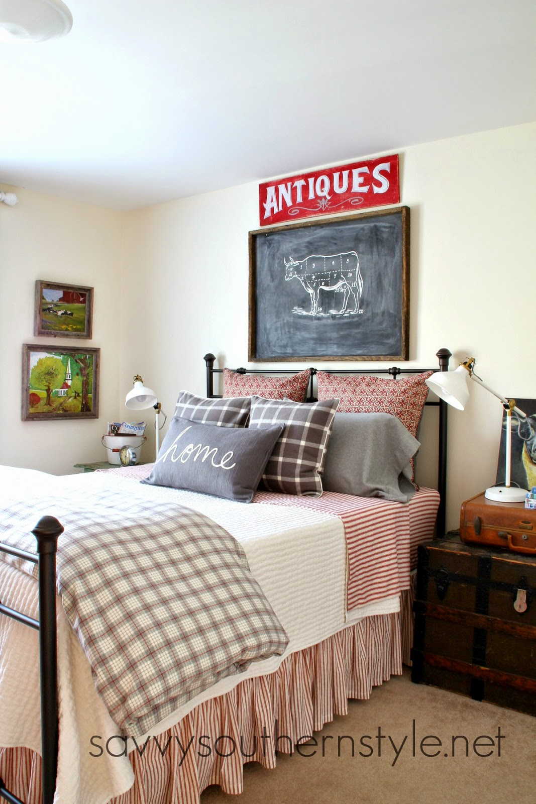 Savvy southern style ikea ranarp lamps in the guestroom for Southern style bedroom