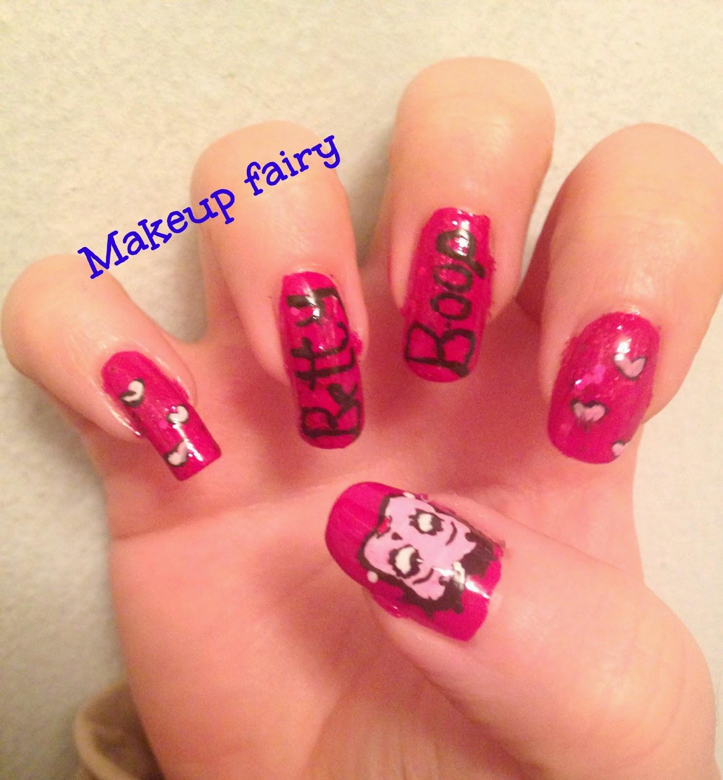 Tinklesmakeup: Betty Boop nail art