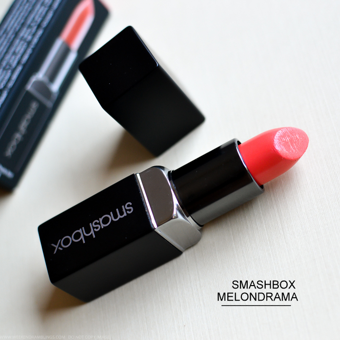 Smashbox Be Legendary Lipstick in Melondrama Review Swatches Photos