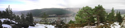 View of Deeside and Ballater from the top of Craigendarroch