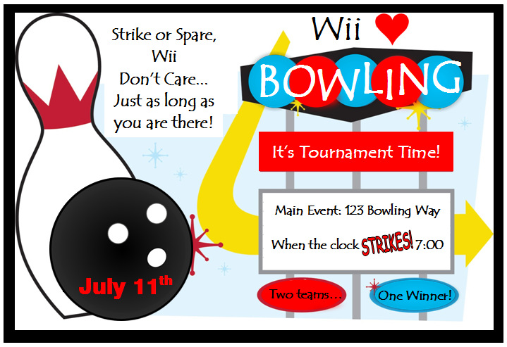 Invite and Delight Wii Love Bowling