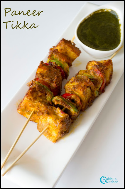 Paneer Tikka Recipe on Stove Top | Paneer Tikka using Tawa